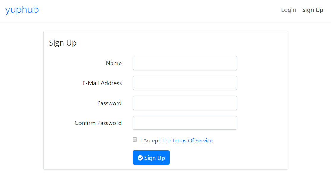 Create Yuphub Account